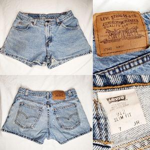 Vintage Levi's Strauss Denim Jean Shorts Slim Fit